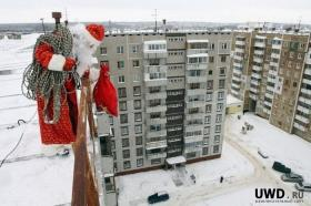 Дед Мороз на крыше